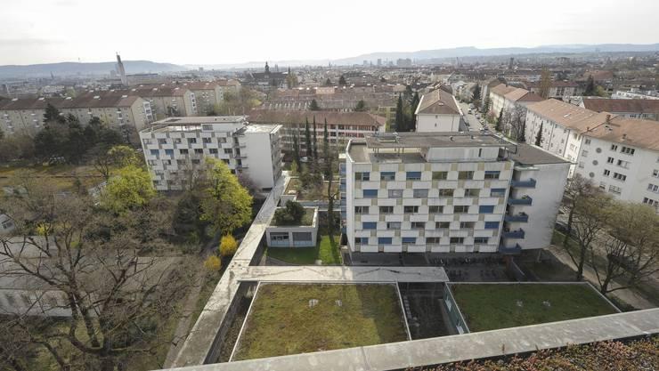 Auf dem Areal des Felix-Platter-Spitals sollen dereinst 500 bis 550 genossenschaftliche Wohnungen entstehen.