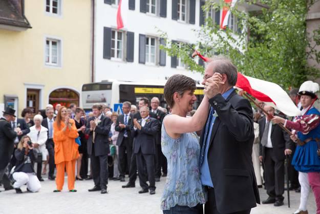Vortänzer Elmar und Esther Oberer