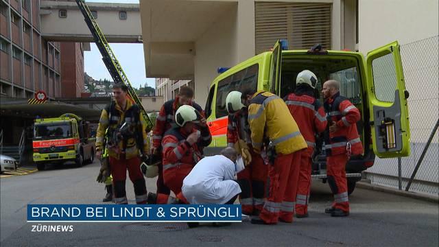 Evakuierung bei Lindt & Sprüngli