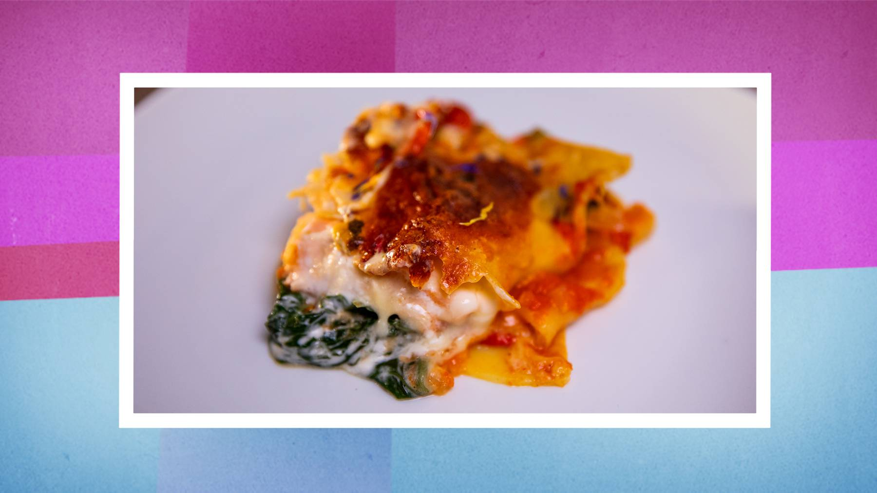 Hauptgang: Lachs-Spinat-Lasagne