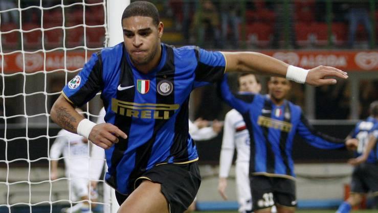 Adriano im Trikot von Inter, 2009