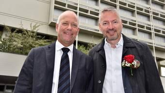 neues Gemeindepräsidium Olten 2017-2021 - Stadtpräsident Martin Wey und Vizepräsident Thomas Marbet