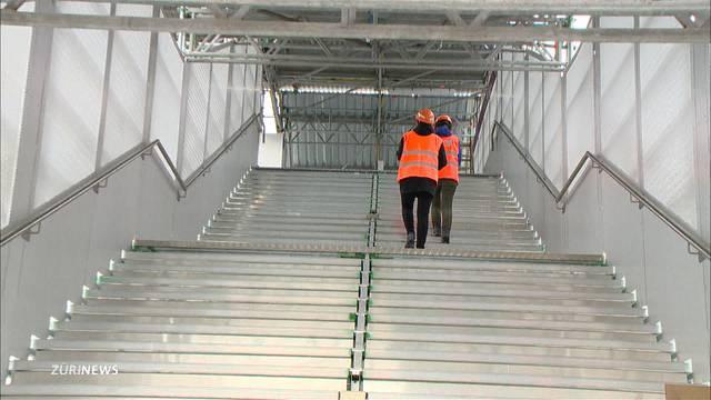 Passarelle statt Unterführung am Bahnhof Altstetten