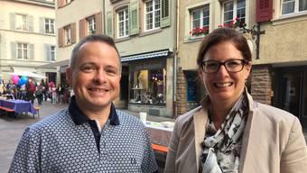 Michèle Dürrenberger und Fabrice Müller vom «Erfolgssignale»-OK freuen sich auf das Wirtschaftsforum.