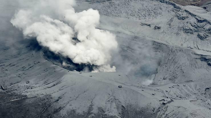 Zuletzt brach Mount Aso im September 2015 aus (Archivbild)