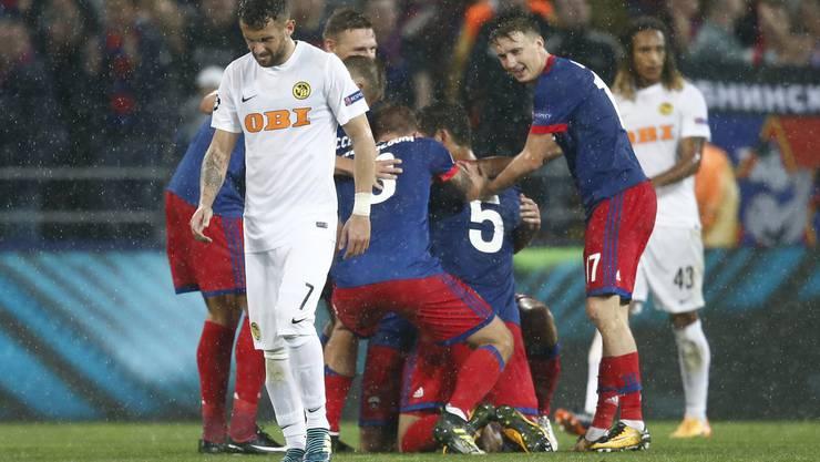 YB verliert gegen ZSKA Moskau 0:2 und verpasst somit die Champions-League-Gruppenphase.