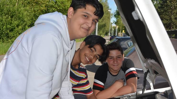 Dominik, Riccardo und Matteo (von links) freuen sich auf die Berufsinfotage.