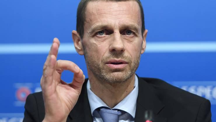 UEFA-Präsident Aleksander Ceferin zeigt volle Zuversicht