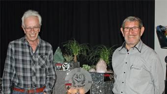 Sie haben Wohler Motocross- Geschichte geschrieben: Hugo Müller und Ernst Meyer. Nicht auf dem Bild: Jörg Wenger. zvg