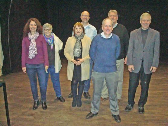 von links nach rechts: Martina Lack, Susie Fieldhouse, Shirley Bergman, Stephen Barber, Präsident Ian Bergman, Adrian Allen, Frédéric Falbriard (fehlt Beat Herzig)