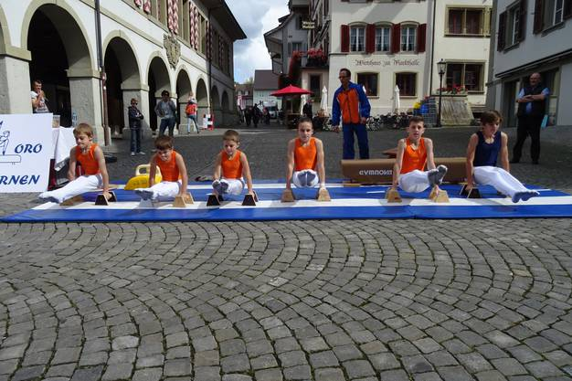 Showblock in der Altstadt