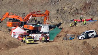 Der Ort der Tragödie in Südspanien. Der Bub war Mitte Januar 2019 in das enge Bohrloch gestürzt. Erst nach knapp zwei Wochen konnte er mittels eines mühsam gegrabenen Parallelschachts in 70 Metern Tiefe tot geborgen werden.  (Archivbild)