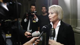 Elisabeth Schneider-Schneiter stellte sich am Freitag vor den CVP-Hearings den Medien.