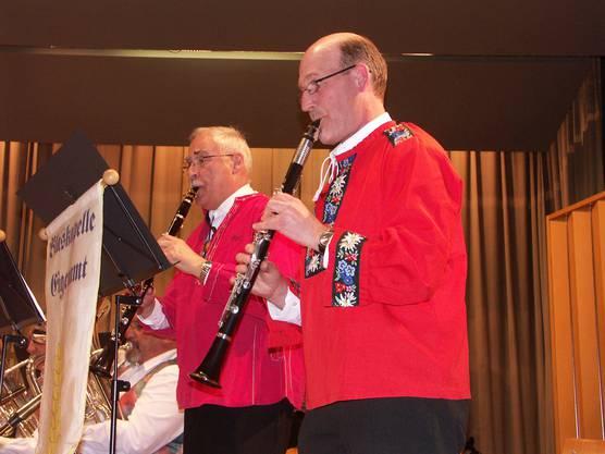 Mitreissendes Klarinettensolo von Ueli Wild (links) und Hans Binder