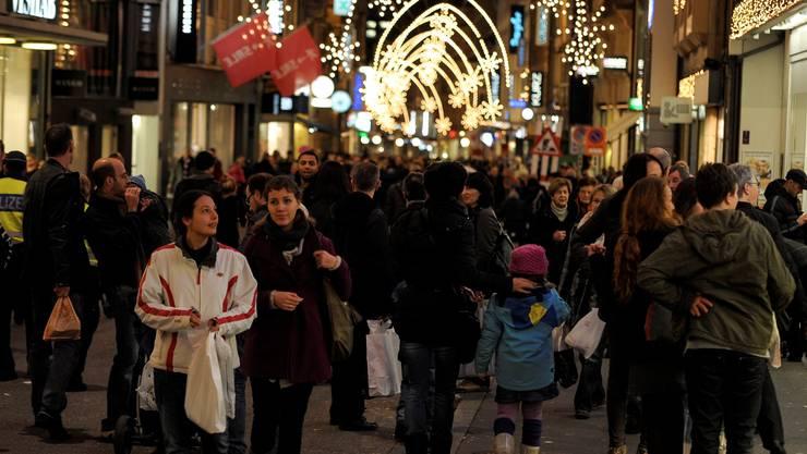 im Aargau ist auch dieses Jahr der vierte Adventssonntag der grosse Einkaufstag.