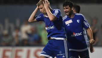 Florian Stahel (links) zeigte eine enttäuschende erste Hälfte, steigerte sich dann aber.