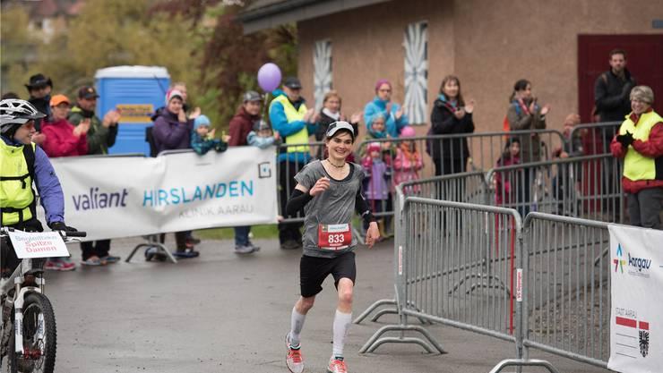In bester Erinnerung: Als Siegerin absolvierte Fränzi Inauen den ersten Aargau Marathon Anfang Mai 2016 in weniger als drei Stunden.