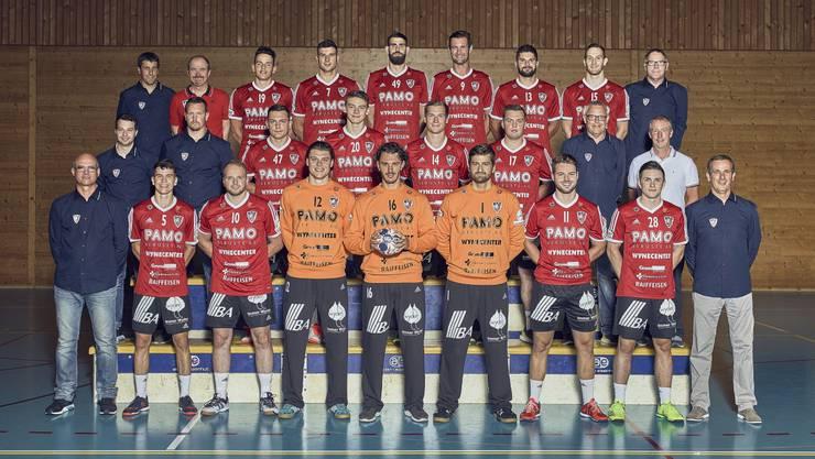 Das NLA-Team des HSC Suhr Aarau in der Finalrunde.