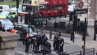 Szene der Verhaftung am Donnerstag in London.