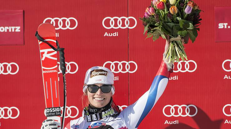 24. Januar - 2015 Es vergehen einige Jahre, bis Lara Gut in St. Moritz einen nächsten Höhepunkt erlebt. Mit 23 Jahren, 8 Monaten und 28 Tagen gehört sie im Weltcup längst zu den Besten – obwohl sie noch immer zu den Jüngeren gehört. In St. Moritz beweist sie ihr Können und gewinnt die Abfahrt.