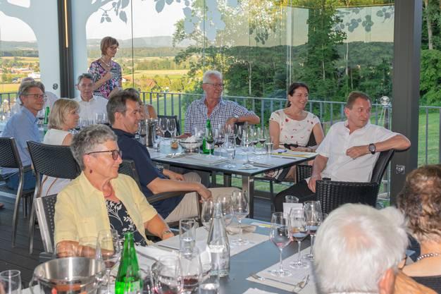 Die Freiämter Weinfreunde geniessen dei Darbietung