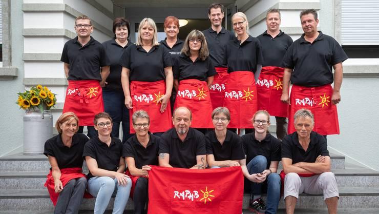 Der Verein Raphbo, 1999 initiiert von Hansjörg Bobst (sitzend, Mitte), zählt heute 15 Mitglieder.