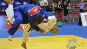 Judoka Patrik Moser schickt einen Kontrahenten auf die Matte