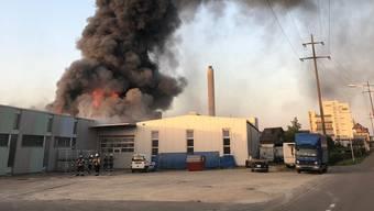Grossbrand in Pratteln