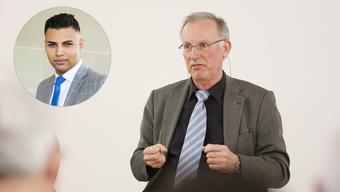 Gaston Barth untersucht den Fall rund um den jungen SVP-Politiker Adrian Spahr (links).