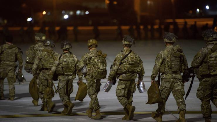Diese Truppen machten sich am 1. Januar von den USA in Richtung Nahen Osten auf.