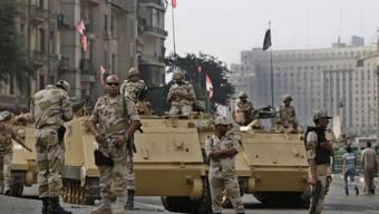 Soldaten der ägyptischen Armee in Kairo