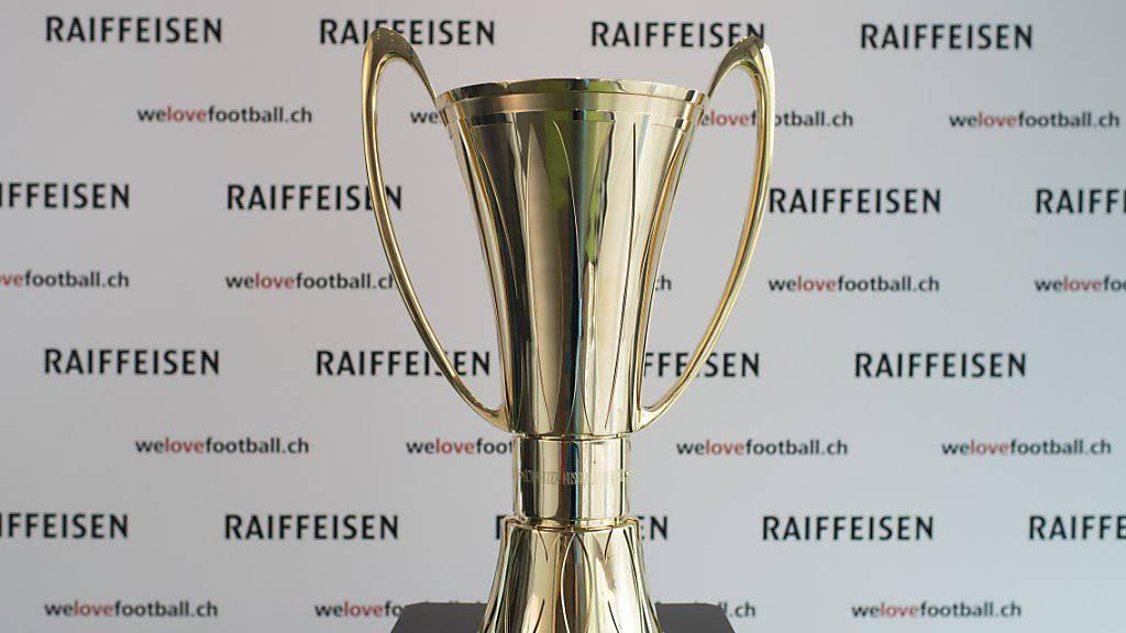 Bis zur Vergabe Mitte Mai 2018 wieder im Fokus: der Pokal der Super League