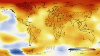 2012 war eines der wärmsten Jahre.