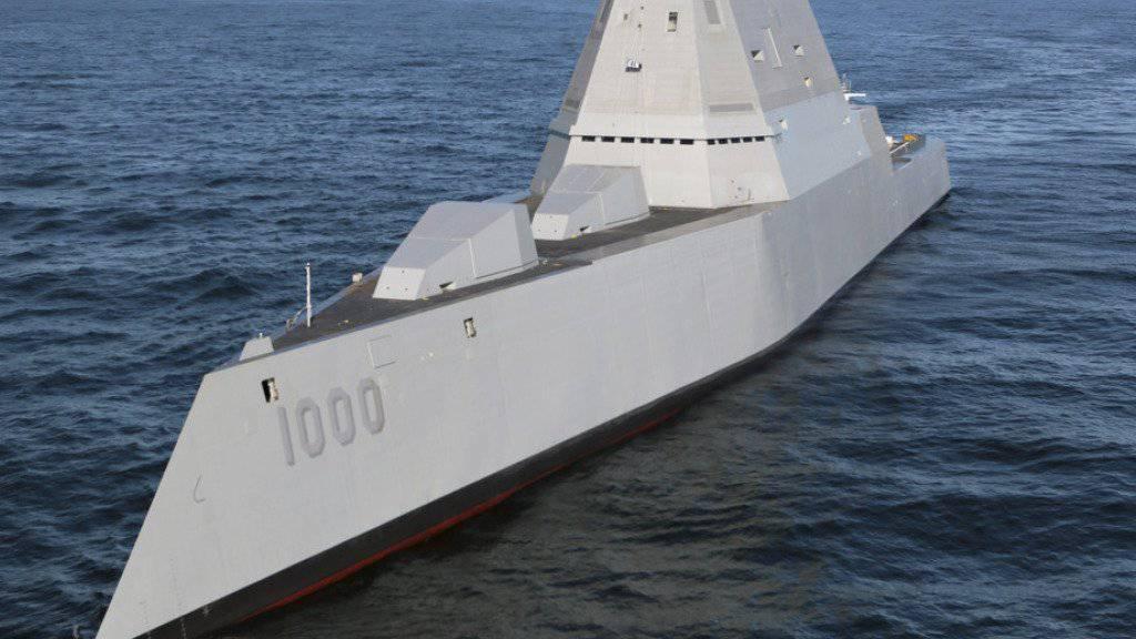 """Die """"Zumwalt"""" ist das erste Schiff einer neuen Generation von Zerstörern der US-Marine. (Archivbild)"""