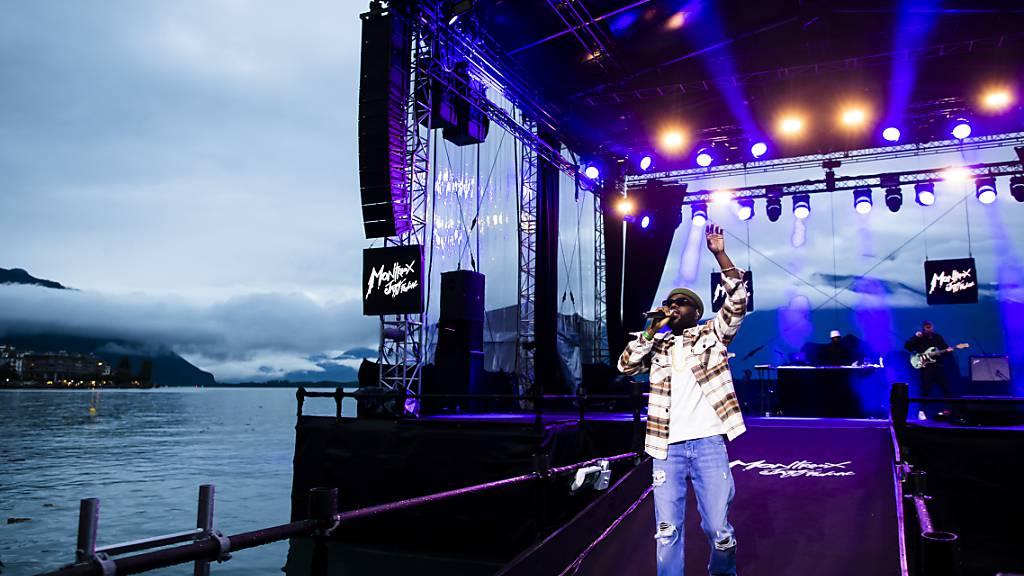 Das Montreux Jazz Festival, hier während des Konzerts des Lausanner Rappers Arma Jackson, hat während seiner 55. Ausgabe allen Widrigkeiten getrotzt.