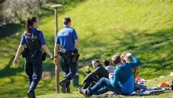 Die St. Galler Polizei war vor allem in den Naherholungsgebieten vermehrt unterwegs.