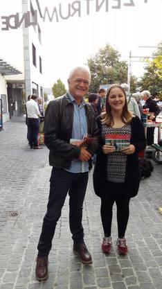 Grossrat u. erneuter Kandidat Jürg Knuchel und Claudia Mauchle, Grossratskandidatin