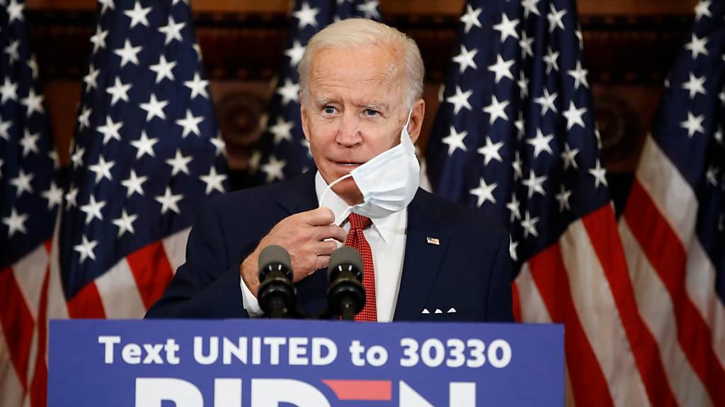 dpatopbilder - Joe Biden, designierter Präsidentschaftskandidat der Demokraten und ehemaliger Vizepräsident der USA. Foto: Matt Rourke/AP/dpa