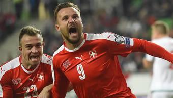 Xherdan Shaqiri (l.) und Haris Seferovic: Die beiden Nati-Spieler werden am 53. Uhrencup dabei sein (sofern Seferovics Wechsel zu Benfica klappt).