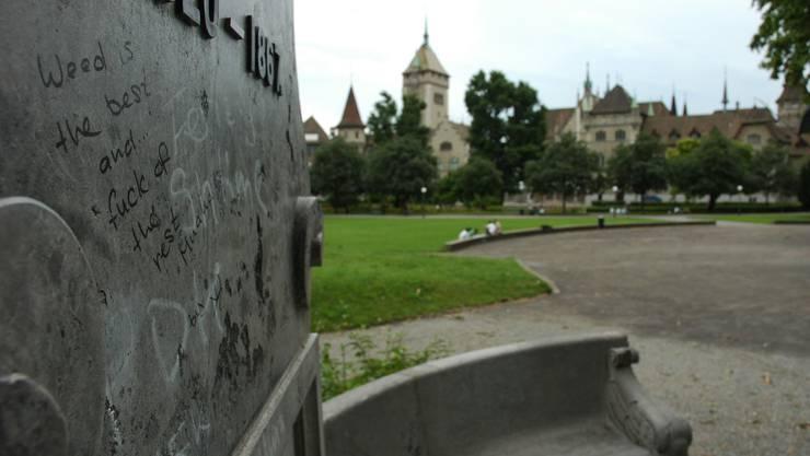 Heute: Das Landesmuseum, vom Platzspitz aus gesehen. Matthias Scharrer
