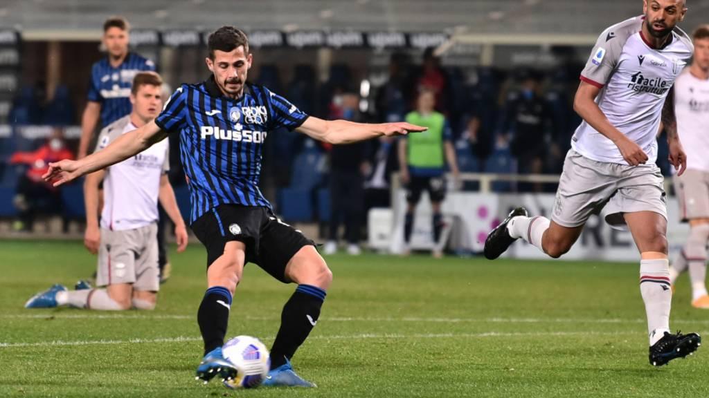 Ein seltenes Bild: Remo Freuler schiesst gegen Bologna für Atalanta Bergamo zum 3:0 ein