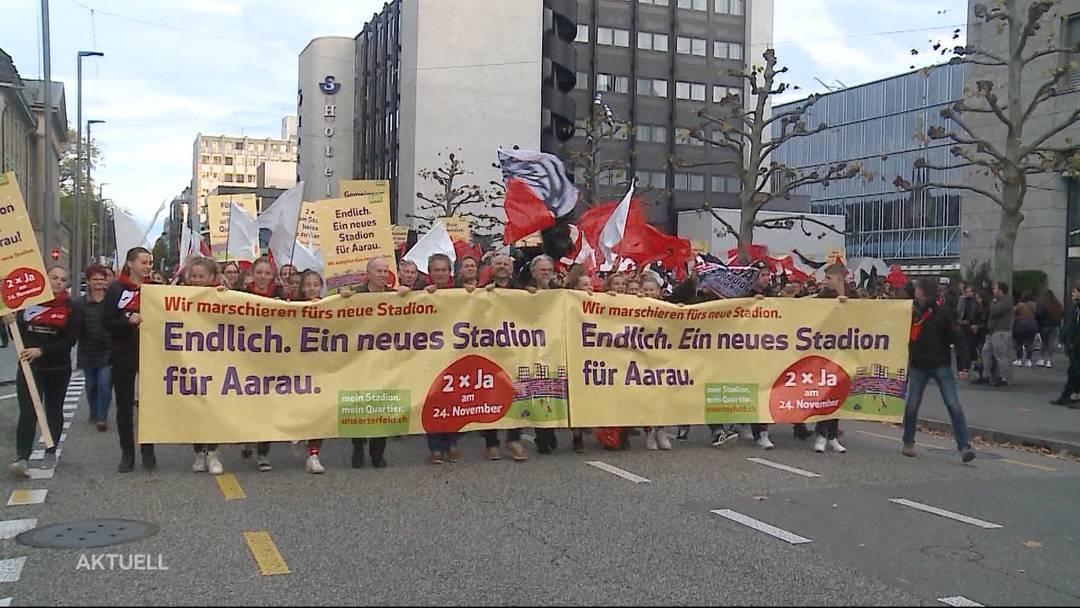 Solidaritätsmarsch für den FC Aarau