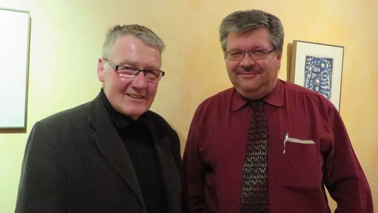 Stiftungsratspräsident Alfred Fasnacht (links) und sein Nachfolger Lukas Walter.