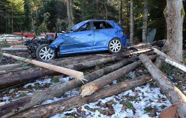 Der Fahrer wurde nur leicht verletzt.