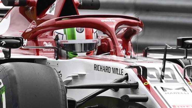 Antonio Giovinazzi (im C39 von Alfa Romeo) ging am Freitag im internen Teamduell mit Kimi Räikkönen zweimal als Sieger hervor