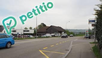 Die Petition fordert an der Bushaltestelle Eckwil einen Fussgängerstreifen.