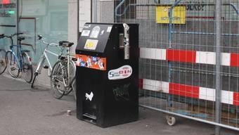 Solar-Mülleimer Barfüsserplatz