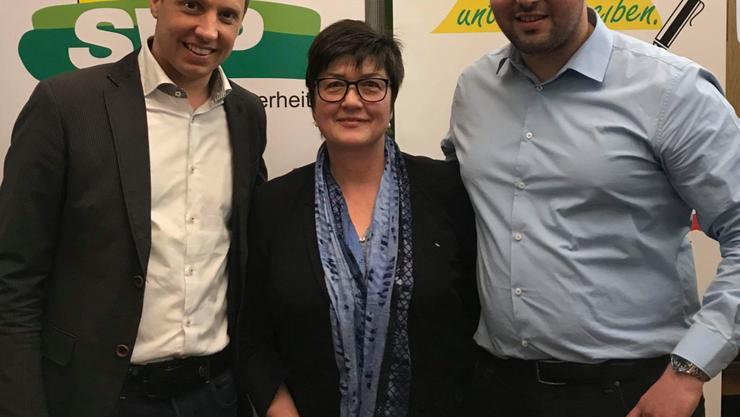 v.l.n.r.: Christian Imark, Christine Rütti und David Sassan Müller