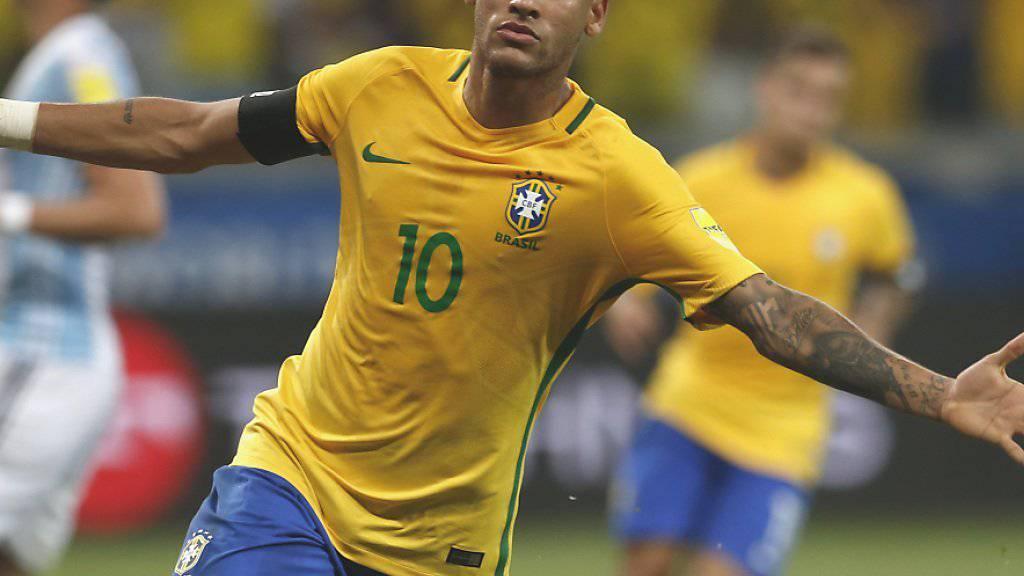 War bei Brasiliens 3:0 gegen Argentinien der überragende Mann: Neymar