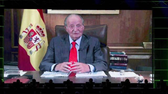 Der spanische König Juan Carlos in seiner Video-Botschaft